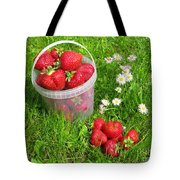 A Bucket Of Strawberries Tote Bag