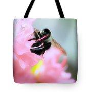 Bumble Bee And Azalea Tote Bag