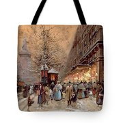 A Busy Boulevard Near The Place De La Republique Paris Tote Bag