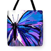 A Butterfly So Blue Tote Bag