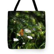 A Butterfly's World Tote Bag by Belinda Greb