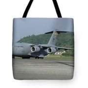 A C-17 Globemaster IIi Of The U.s. Air Tote Bag