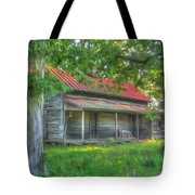 A Cabin In The Woods Tote Bag