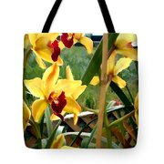 A Cage Of Canary Cymbidiums Tote Bag