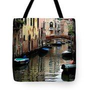 Calm Canal In Venice  Tote Bag