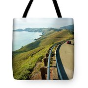 A Car Descends Conzelman Road Tote Bag