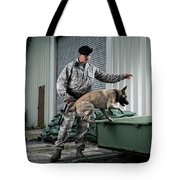 A Caucasian, Male Air Force Security Tote Bag