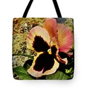 A Charming Pansy Tote Bag