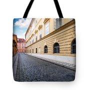 A Charming Street In Prague Tote Bag