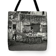A Chat Among Friends Tote Bag