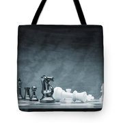 A Chess Game Tote Bag by Don Hammond