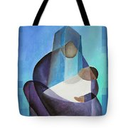 A Child Is Born Christmas Greeting  Tote Bag