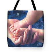 A Child Is Born Tote Bag