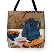 A Chinese Tea Pot With Tea And Cookies Tote Bag