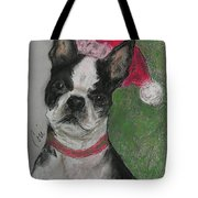 A Christmas Terrier Tote Bag