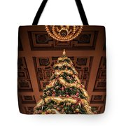 A Christmas Tree At Union Station Tote Bag