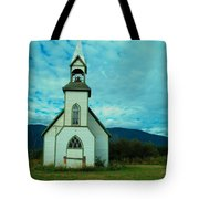 A Church In British Columbia   Tote Bag