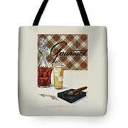 A Cigar In An Ashtray Beside A Drink And Decanter Tote Bag