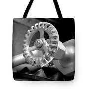 A Classic Black And White Tote Bag