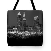 A Cleveland Black And White Night Tote Bag