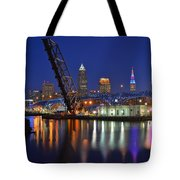 A Cleveland Ohio Evening On The River Tote Bag
