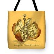 Steampunk Orange Tote Bag
