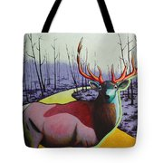 A Close Encounter In Yellowstone Tote Bag
