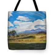 A Cloudy Day On Antelope Island Tote Bag