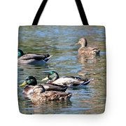 A Cluster Duck Tote Bag