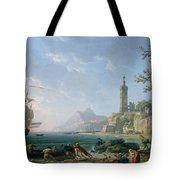 A Coastal Mediterranean Landscape Tote Bag
