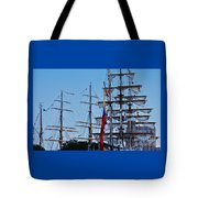 A Collection Of Masts In Baltimore Tote Bag