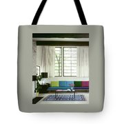 A Colourful Living Room Tote Bag