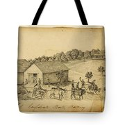 A Confederate Bull Battery Previous To The Battle Of Bull Run Tote Bag