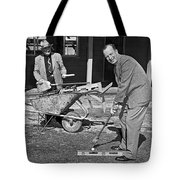 A Construction Golfer Tote Bag