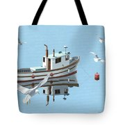 A Contemplation Of Seagulls Tote Bag