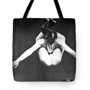 A Contortionist On A Pedestal Tote Bag
