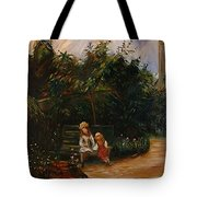 A Corner Of The Garden At The Hermitage Tote Bag