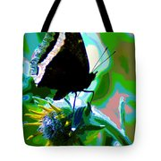 A Cosmic Butterfly Tote Bag