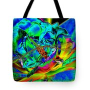 A Cosmic Dragonfly On A Psychedelic Rose Tote Bag