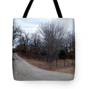 A Country Driveway Near The Brazos River Tote Bag