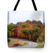 A Country Road In Autumn Tote Bag