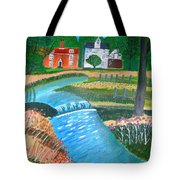 A Country Stream Tote Bag