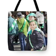 A Couple Girls Enjoying Themselves In The 2009 New York St. Patrick Day Parade Tote Bag