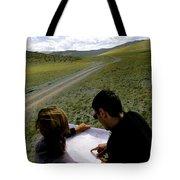 A Couple Hiking Across The Atlai Tote Bag