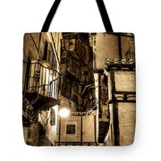 A Couple In A Little Restaurant In The Ancient City Of Albarracin Tote Bag