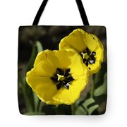A Couple Of Bright Yellow Tulip Flowers Tote Bag