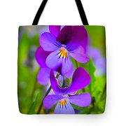 A Couple Of Pansies Tote Bag
