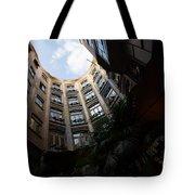 A Courtyard Curved Like A Hug - Antoni Gaudi's Casa Mila Barcelona Spain Tote Bag
