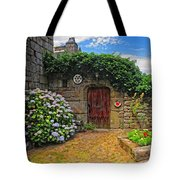A Courtyard In Brittany France Tote Bag