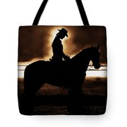 A Cowgirls Prayer Evening Ride Tote Bag